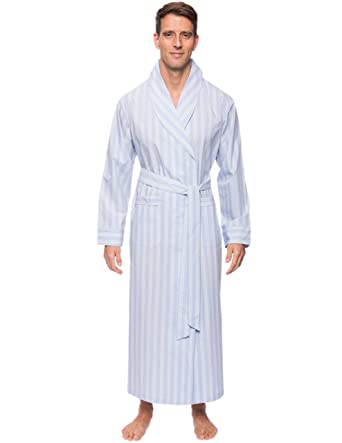 fd441f8d6a Noble Mount Mens Premium 100% Cotton Full-Length Robe at Amazon ...