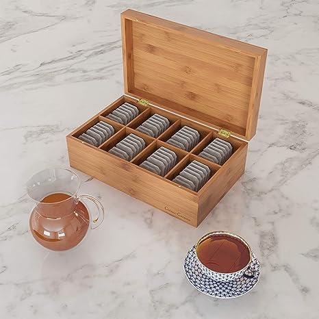 Amazon.com: Caja de bambú clásica de cocina organizador de ...