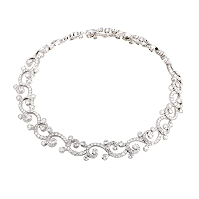 362fd55c463bd Image Unavailable. Image not available for. Color: Luxury Bazaar Cartier  Dentelle Womens Platinum Full ...