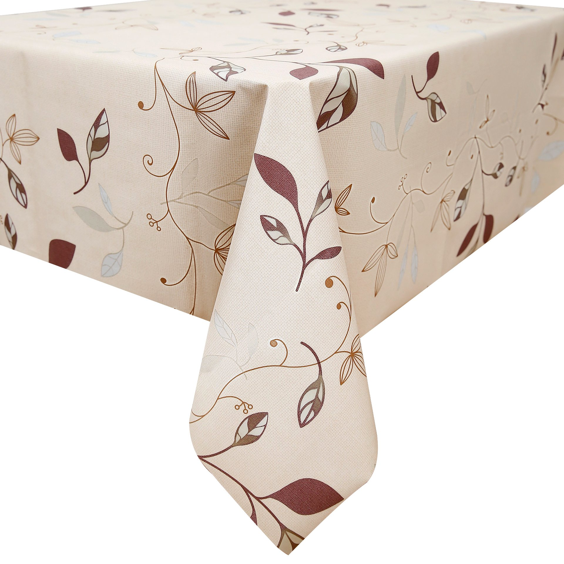 Fancy Fix Natural Leaves Pattern Oil Proof Wipe Clean Table Cloth Plastic  Tablecloths 137