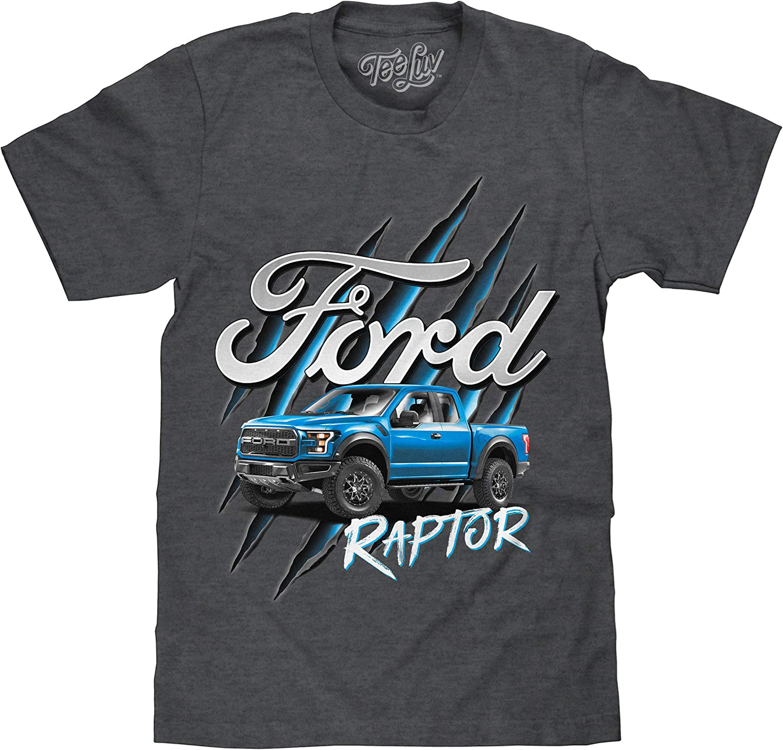 Ford F-150 Raptor Pocket Print Men/'s Ford Raglan Heather Block Polo Shirt 22001HD2-PP-ST641