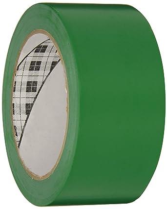3M General Purpose Vinyl Tape 764 Green, 2 in x 36 yd 5 0 mil (Pack of 1)