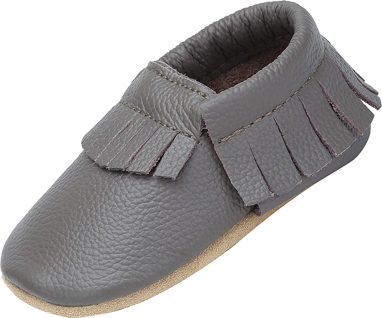 Yavero Leather Crawling Shoes, Soft and