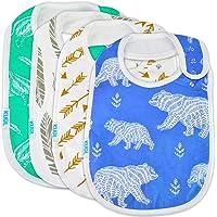 Baby Bib Large Toddler Burpy Absorbent Feeding Reflux Drool Teething Snap Button