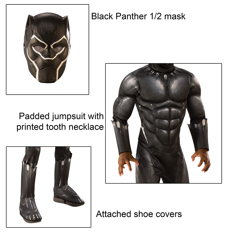 Altura 132 cm Rubies Disfraz Oficial de Pantera Negra de los Vengadores Talla M 7 Edad 5