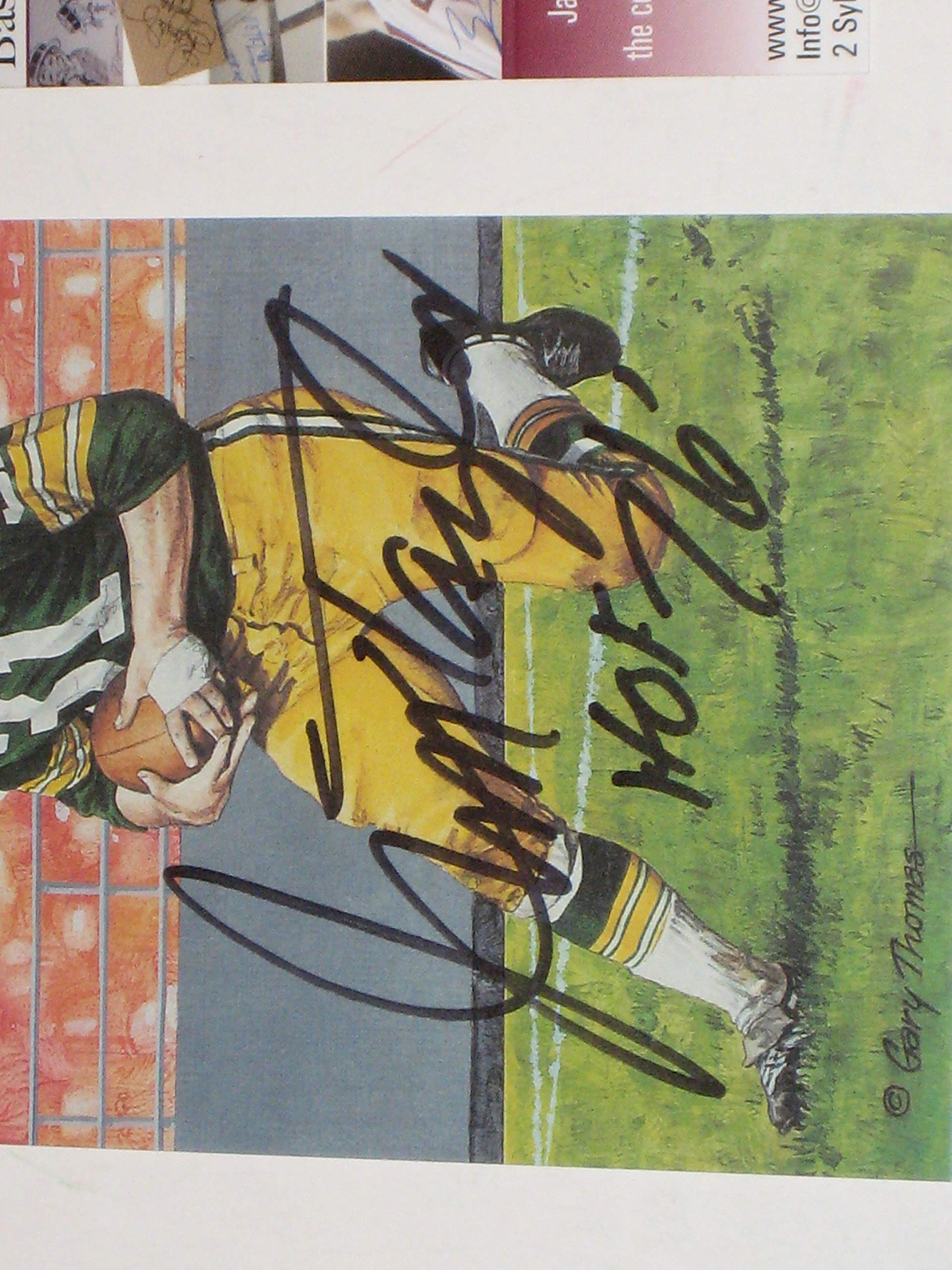 Jim Taylor Green Bay Packers Autographed Goal Line Art Card #3466/5000 (JSA COA)