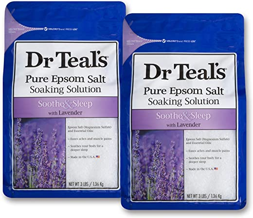 Dr Teals Lavender Epsom Salt - Soothe and Sleep - 2 bags (6lbs total)