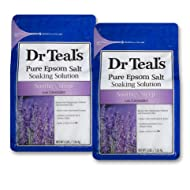 Dr Teals Lavender Epsom Salt - Soothe and Sleep - 2 bags (6lbs total)