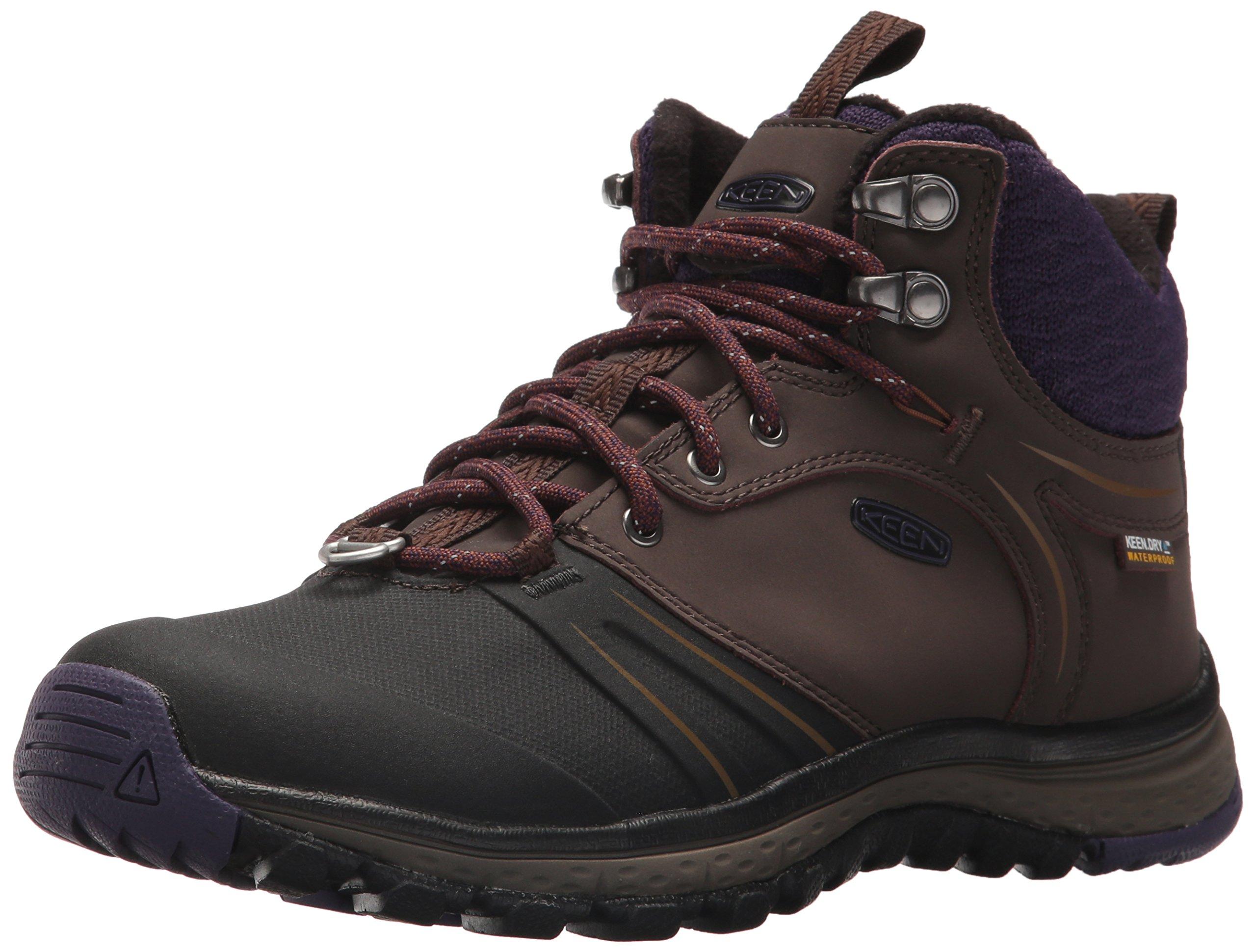 KEEN Women's Terradora Wintershell-w Hiking Shoe, Mulch/Plum Plumeria, 7 M US