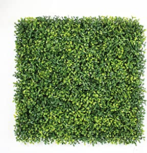 """ULAND Artificial Boxwood Hedge Panels, Grass Greenery Backdrop Ivy Garden Fence, Home Wall Decorations, Pack of 6pcs 20""""x20"""""""