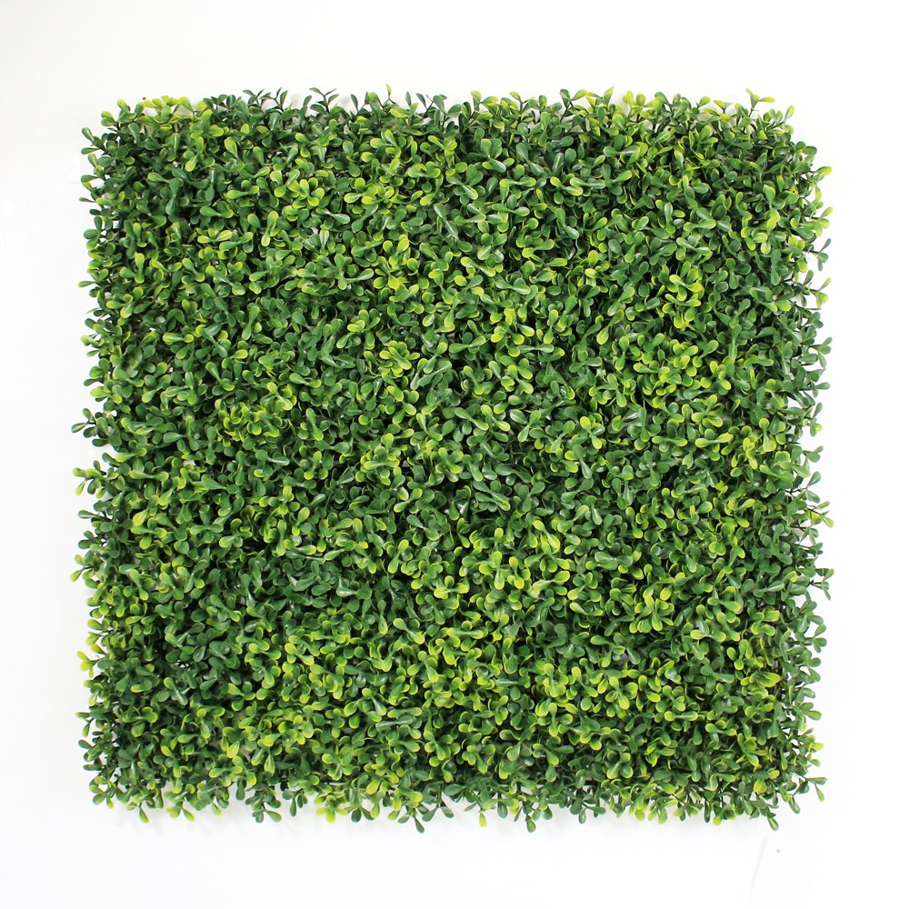 ULAND Artificial Boxwood Hedges Panels, Outdoor Greenery Ivy Privacy Fence Screening, Home Garden Wedding Decoration, Pack of 6pcs 20''x20''