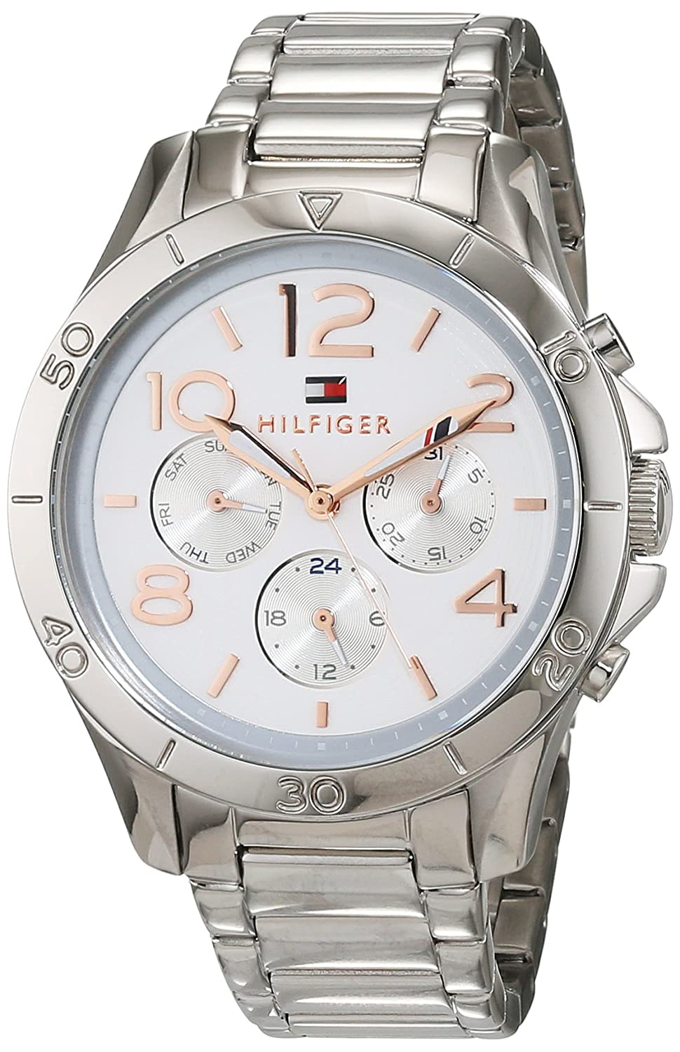 Amazon.com: Tommy Hifiger 1781526 Alex - Wristwatch Mens, Stainless Steel, Band Colour: Silver: Watches