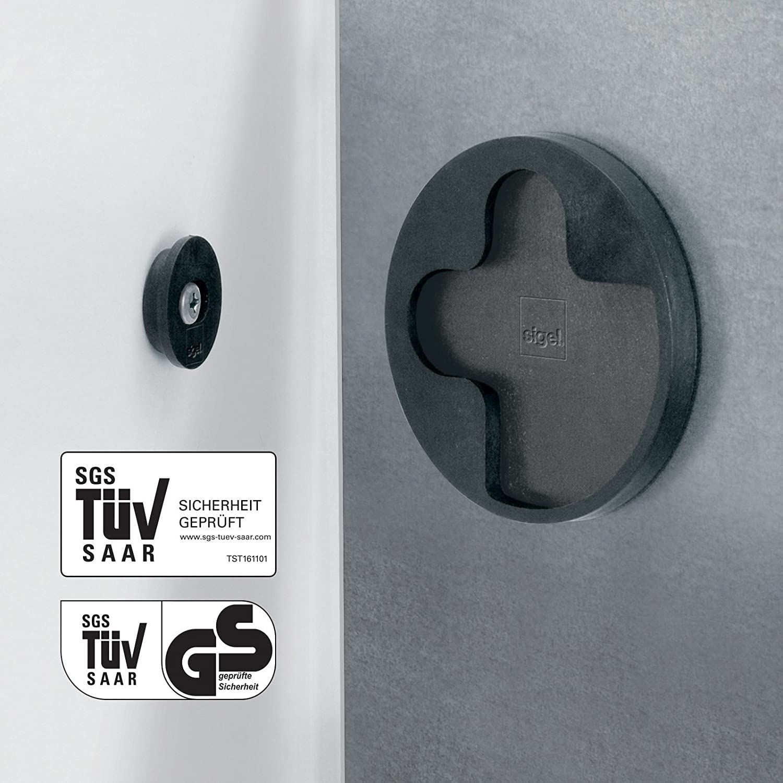 avec /éclairage LED design bois naturel SIGEL GL405 Tableau magn/étique en verre 48 x 48 cm marron clair- Artverum