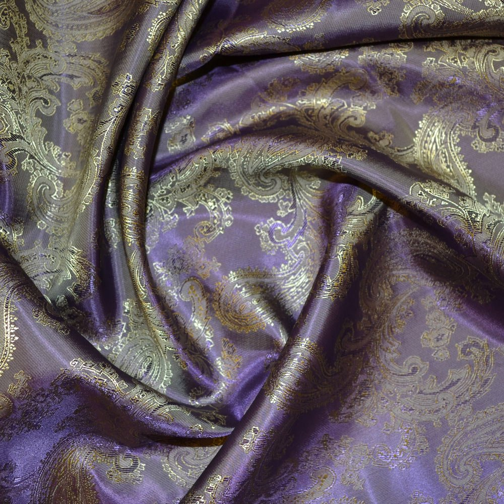 Purple/Yellow Jacquard Lining Fabric C27 (C6340) SKU05955