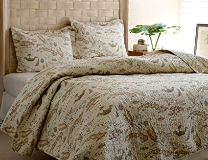 Amazon tommy bahama map quilt set fullqueen home kitchen tommy bahama map quilt set fullqueen gumiabroncs Gallery