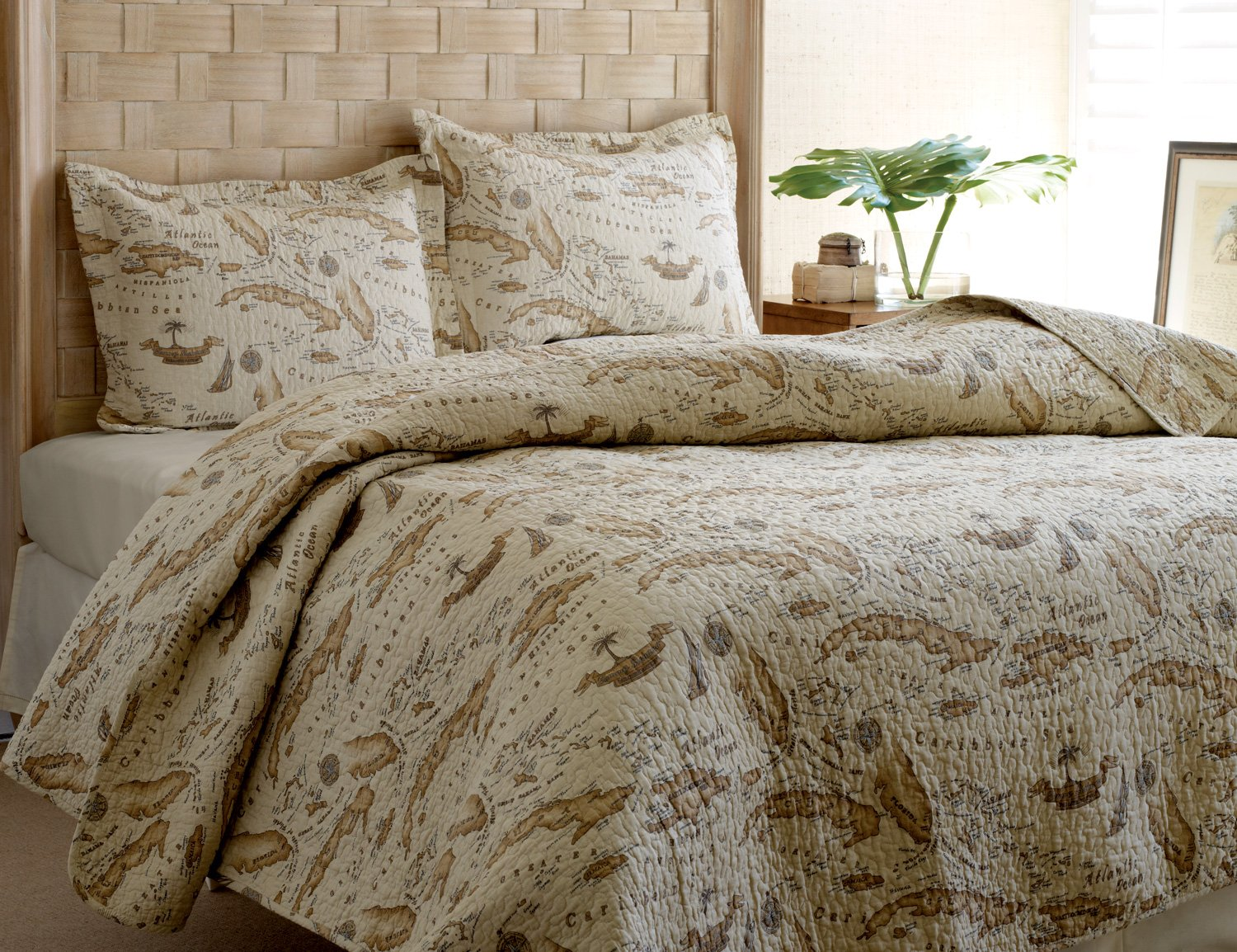 Tommy Bahama Map Quilt Set, King by Tommy Bahama