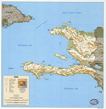 Amazon map poster haiti 24x235 posters prints map poster haiti gumiabroncs Image collections