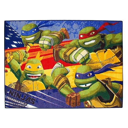 Alfombra niño la Tortugas Ninja 133 x 95 cm Disney ninja ...