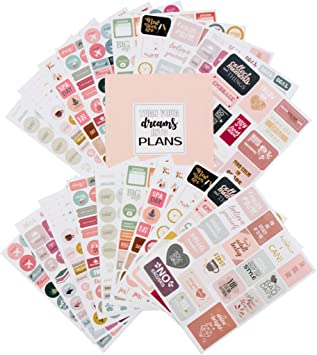 Value Pack Monthly Clever Fox Planner Stickers Set Weekly /& Daily Planner Stickers 14 Sheets Set of 1500+ Unique Stickers