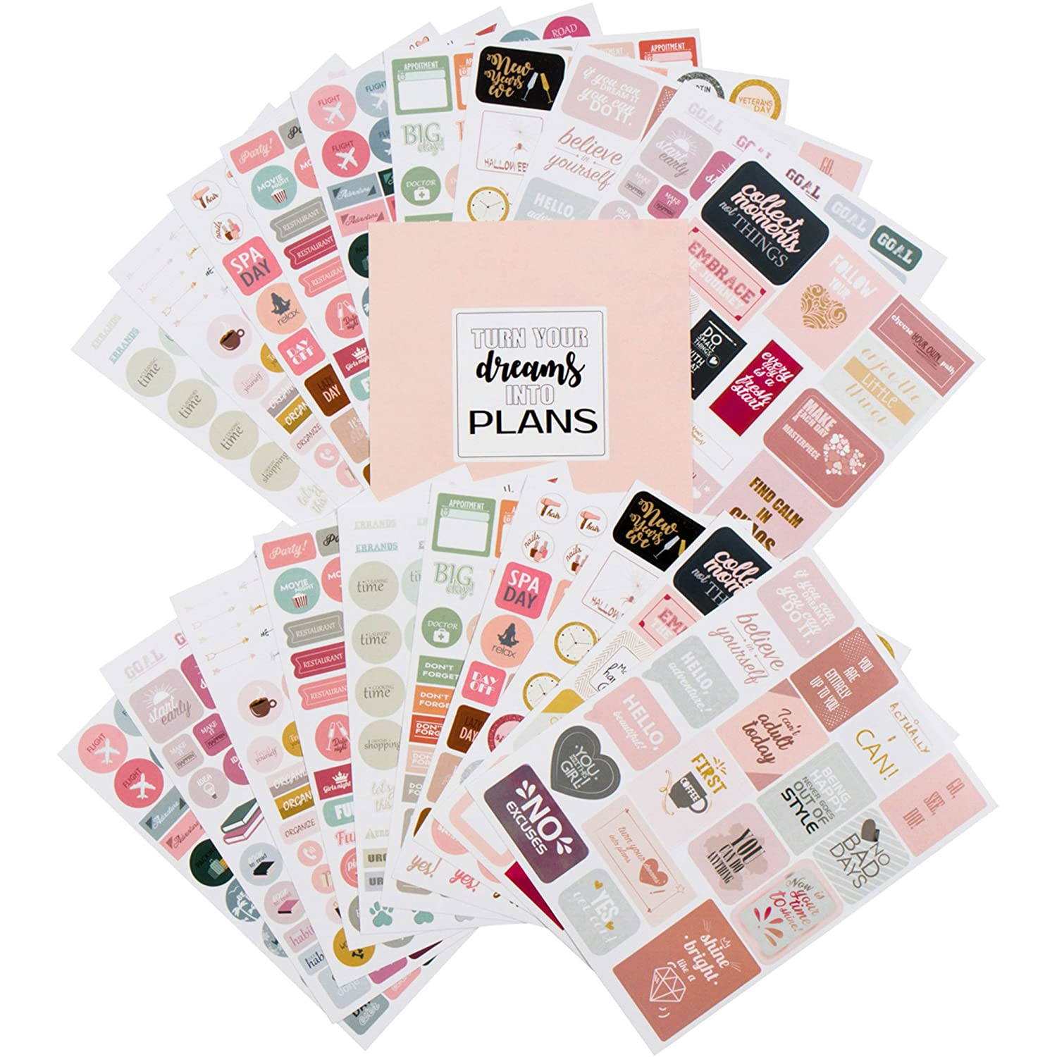 Amazon com planner stickers value pack monthly weekly daily planner sticker set of 1000 stickers for planner office products