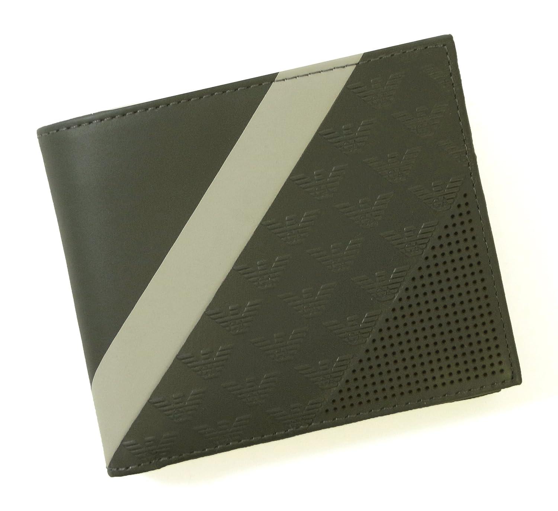 [アルマーニ] 財布 二つ折 (グリーンがかったグレー) エンポリオアルマーニ A-2468 [並行輸入品] B06XDG54YS