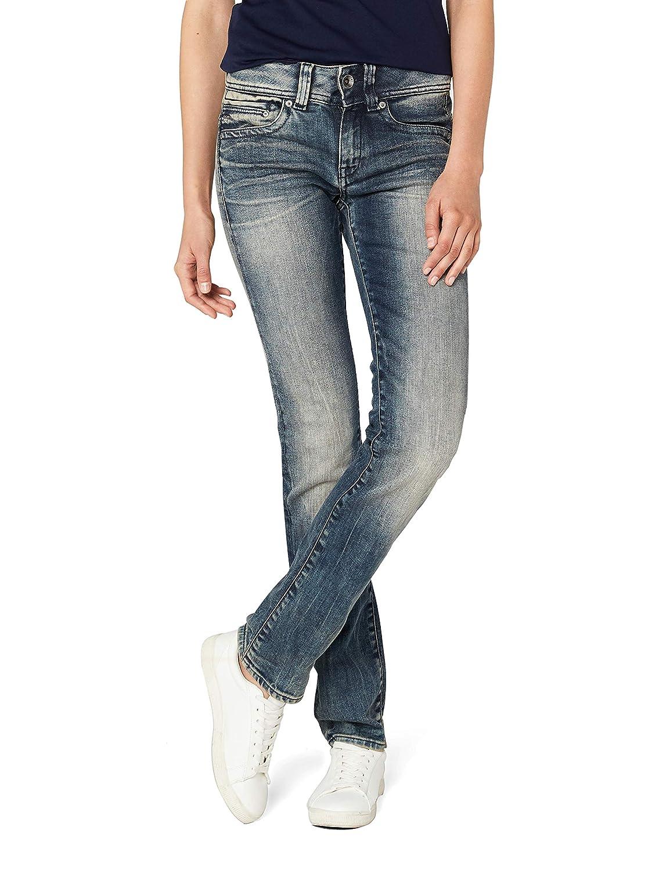 TALLA 29W / 34L. G-STAR RAW Midge Saddle Mid Waist Straight Jeans para Mujer