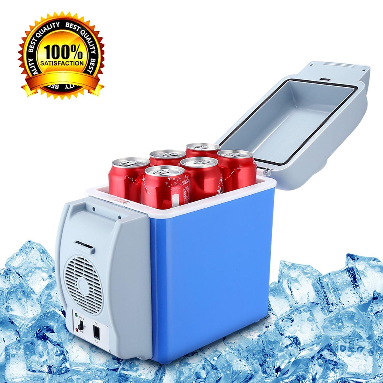 VYVERN Portable 7.5L Cooling Warming Vehicle Fridge Freezer Mini Dual-Mode Car Refrigerators 12v Icebox Travel Home Refrigerator 3 Hole