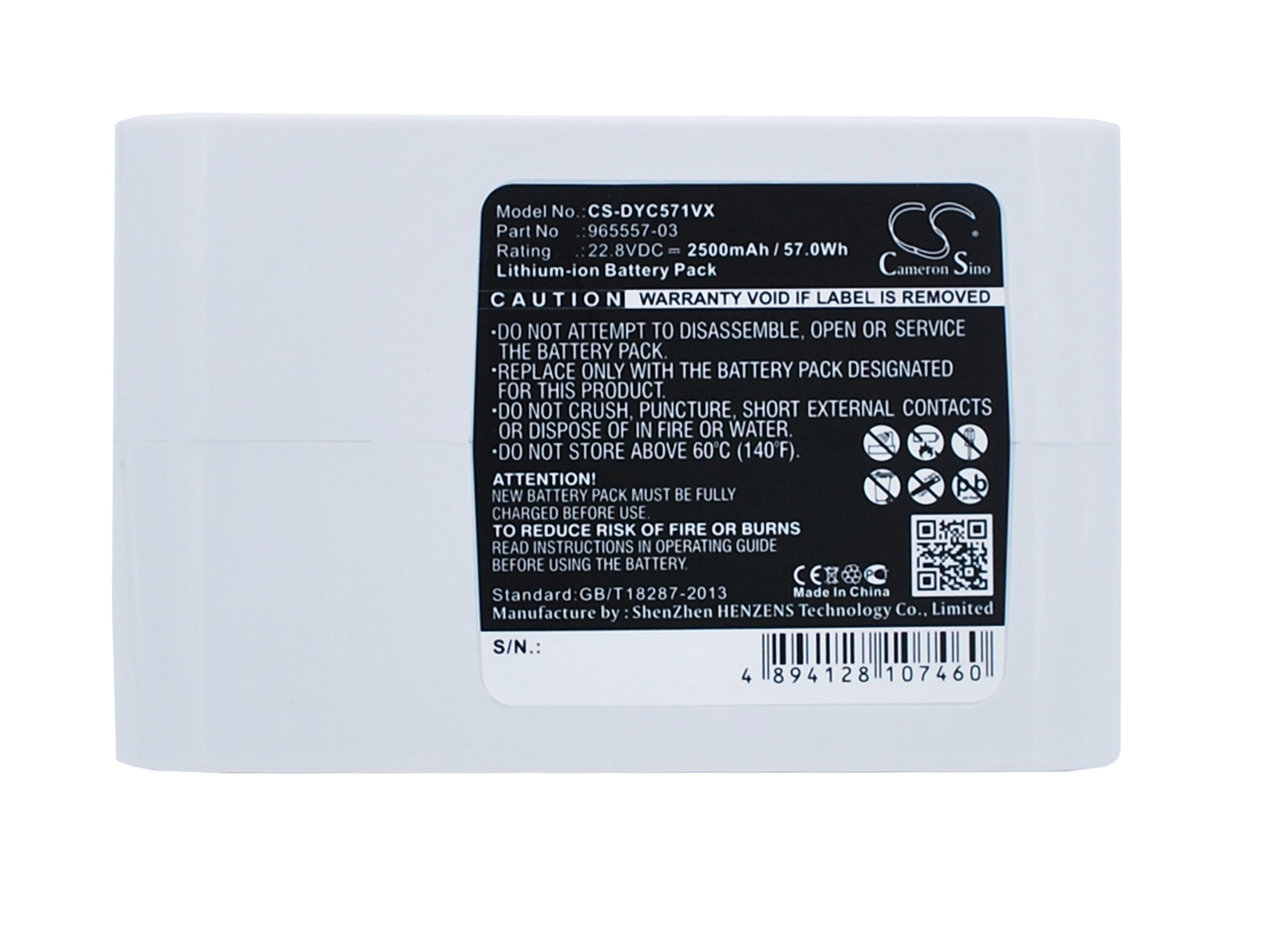 Cameron Sino 2500mAh Battery for Dyson DC31 Animal, DC34, DC34 Animal, DC35, DC35 Multi Floor, DC56, DC57 by Cameron Sino