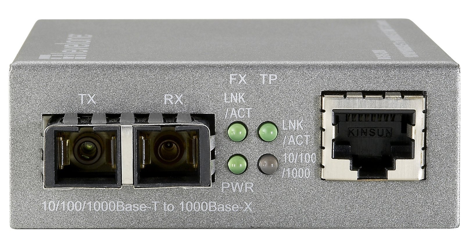 CP Technologies Web Smart 10/100/1000 Based-T to 1000SX MMF SC Media Converter (GVS-3200)