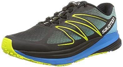 Salomon Sense Propulse Trail Running Shoe - Men s Black Methyl Blue Gecko  Green 7.5 81fdd58487b