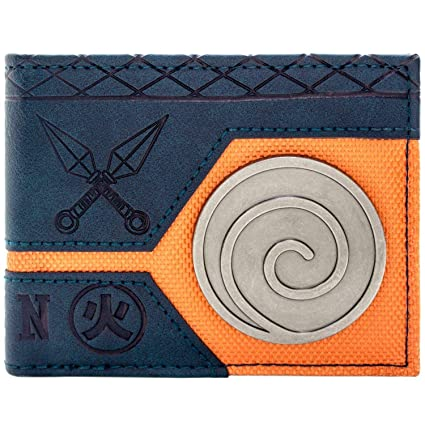 Cartera de Naruto Shippuden Uzumaki Clan Azul