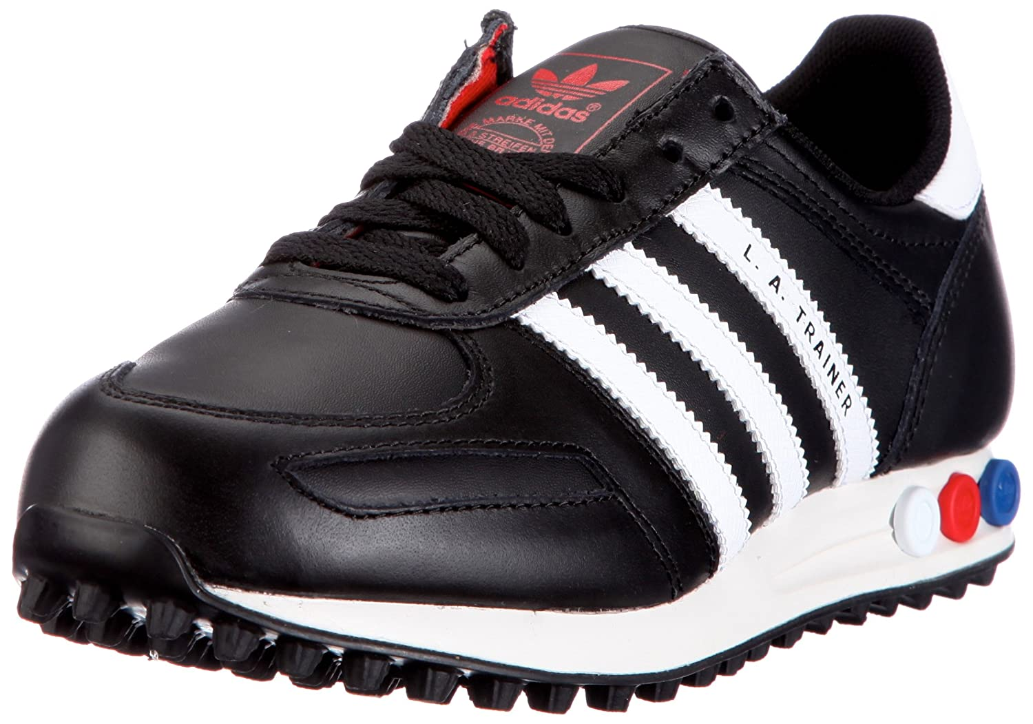 adidas trainer nere in pelle
