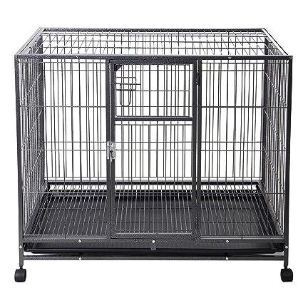 Amazon.com : Goplus 44\'\'L x 29\'\'W Metal Wire Pet Crate Dog Cat Cage ...