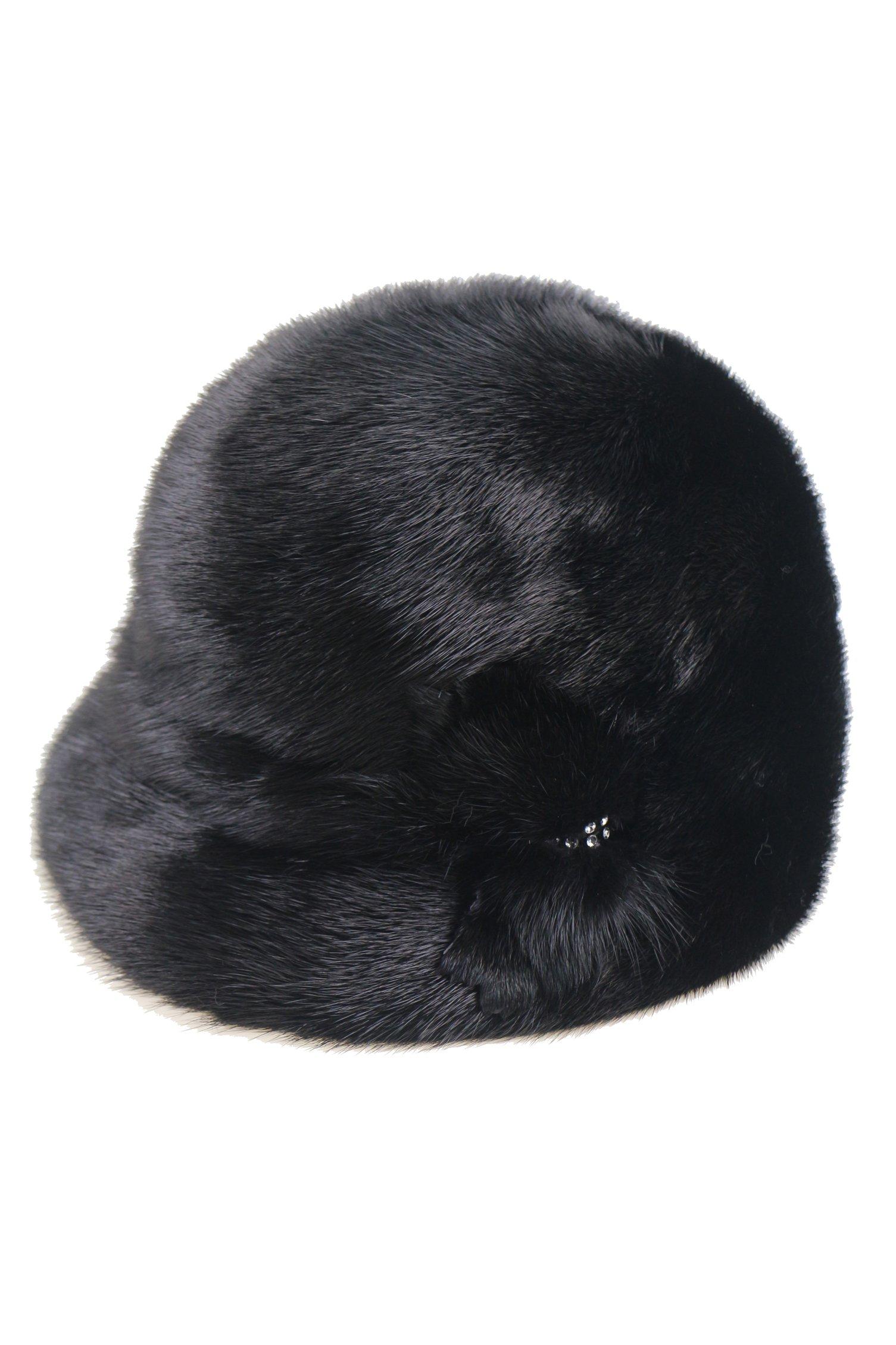 Ysting Real Genuine Mink Fur Women's Beanies Hat Slouchy Hat