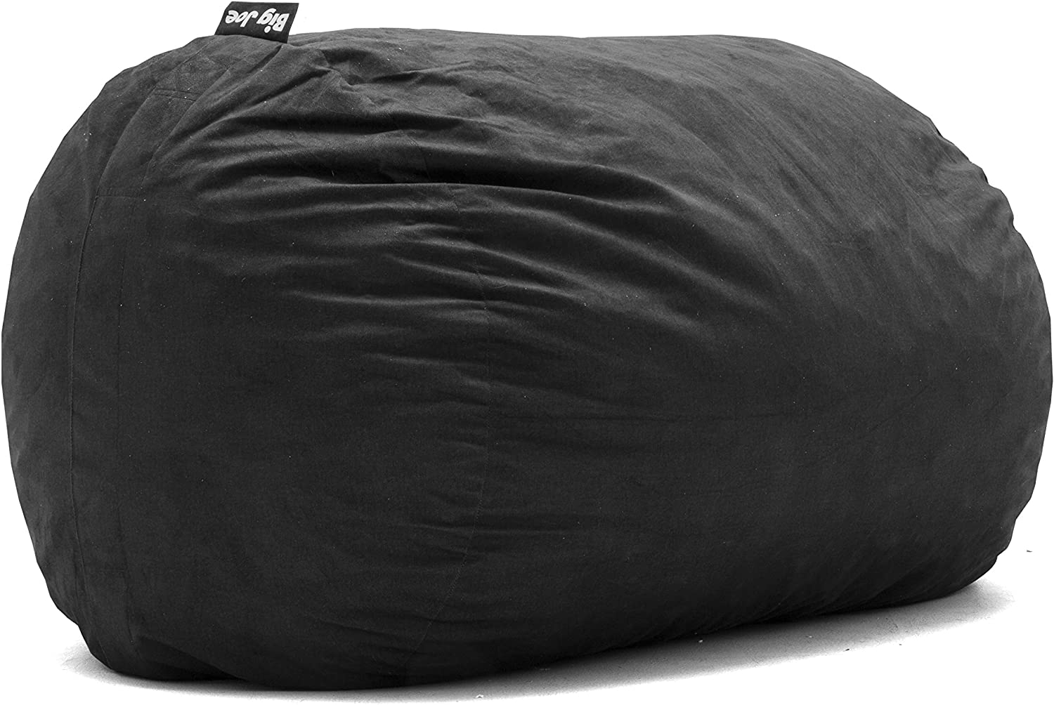 Big Joe Black XL Fuf Lenox Foam Filled Bean Bag Chair with Liner and Removable Cover, Extra Large with Remvovable
