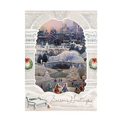 Hallmark Tarjeta de Navidad Pop Up para unidadesfestivo deseos / /Pack de 5