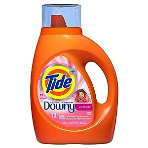 Tide Tide Plus Downy Liquid Laundry Detergent, April Fresh, 46 fl oz 29 Loads, 46 Fl Oz