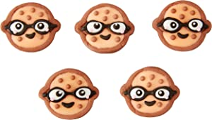 ROSANNA PANSINO by Wilton Nerdy Nummies Icing Decorations Cupcake Toppers, 12-Count -Cake Decorations