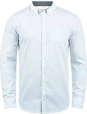 BLEND Fill Camisa De Manga Larga con Botones En El Cuello De 100% algodón