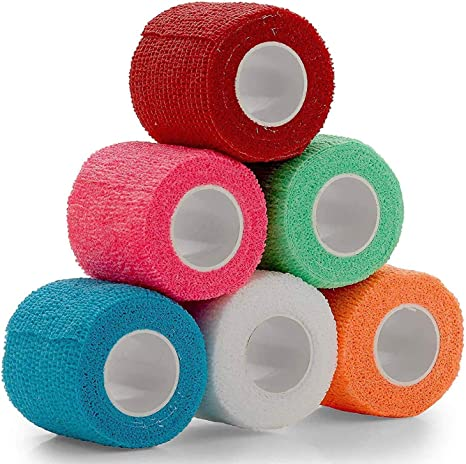 Amazon.com : Vet Wrap - (Pack of 6 - 2 inch x 5 Yard Rolls) Self Adherent  Wrap Cohesive Compression Bandage and Medical Gauze Bandage Roll Tape for  Dogs, Cats, Horses - Assorted Colors : Pet Supplies