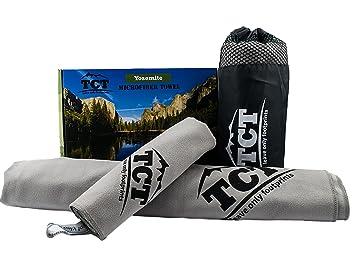 Juego de toallas de microfibra de The Camping Trail. Es una toalla de secado rápido al ...