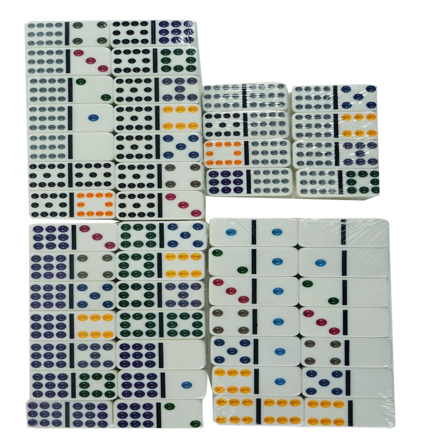 dominoes Domino Doble 12 91 Ni/ños y Adultos Juego de t/áctica Juego de Mesa