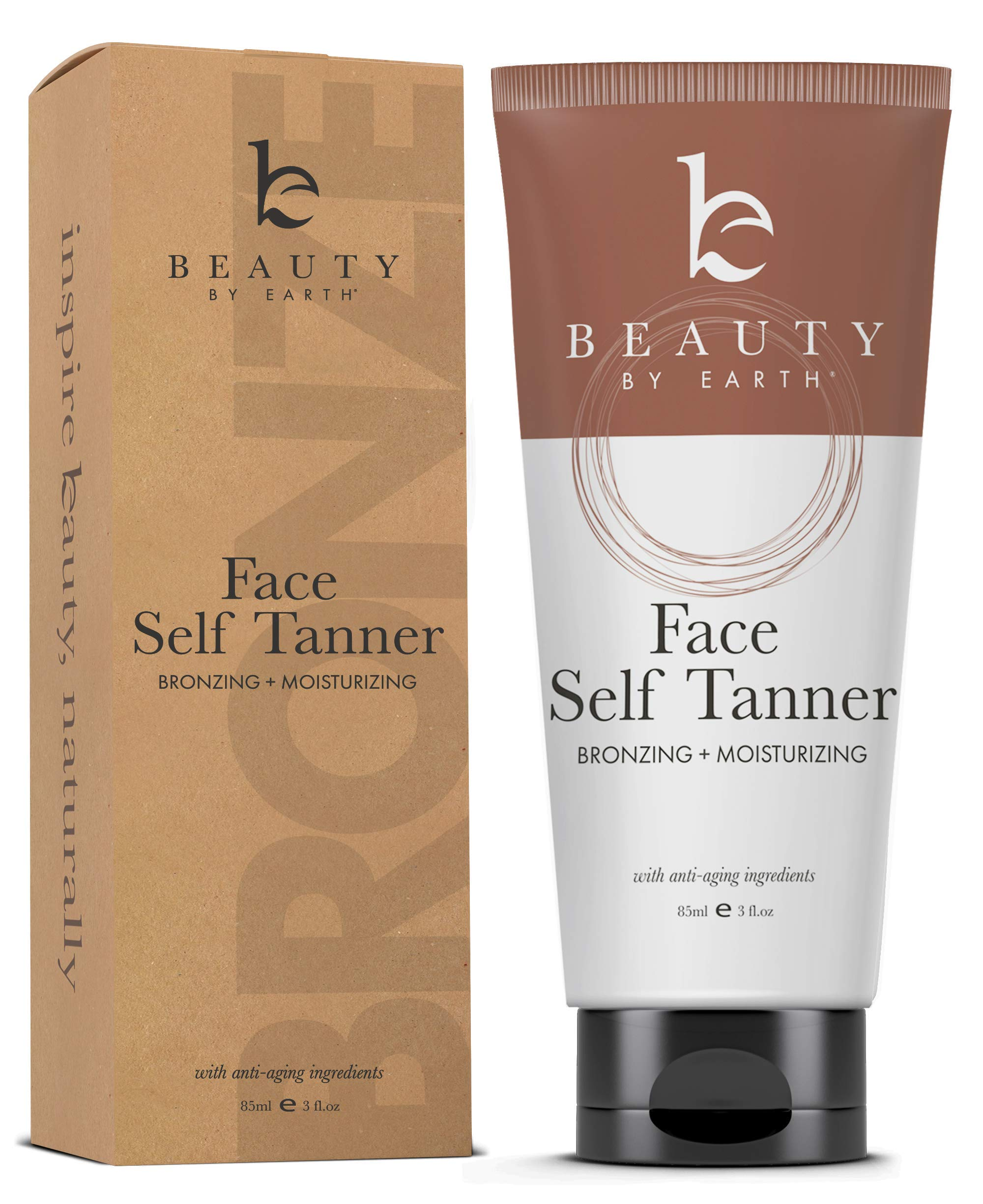 Self Tanner for Face with Organic & Natural Ingredients, Tanning Lotion, Sunless Tanning Lotion for Flawless Darker Bronzer Skin, Self Tanning Lotion - Self Tanners Best Sellers, Fake Tan by Beauty by Earth