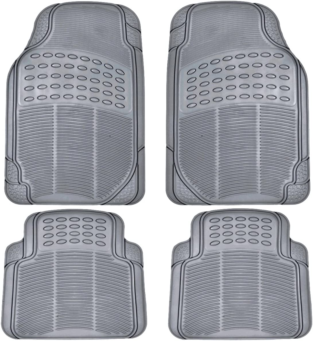 Amazon Com Bdk All Weather Rubber Floor Mats For Car Suv Truck