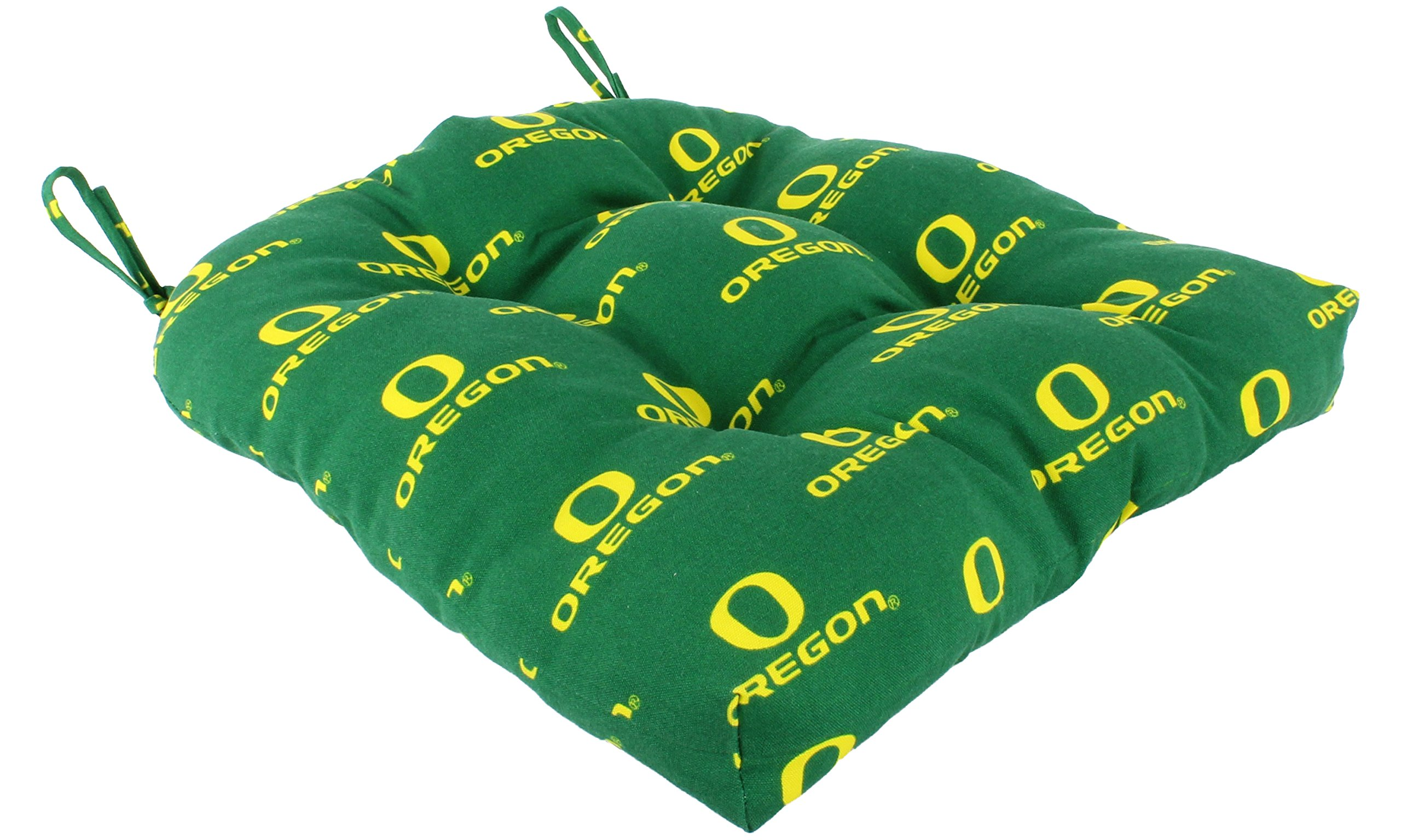 College Covers OREDC Indoor/Outdoor Seat Patio D Cushion, 20'' x 20'', Green