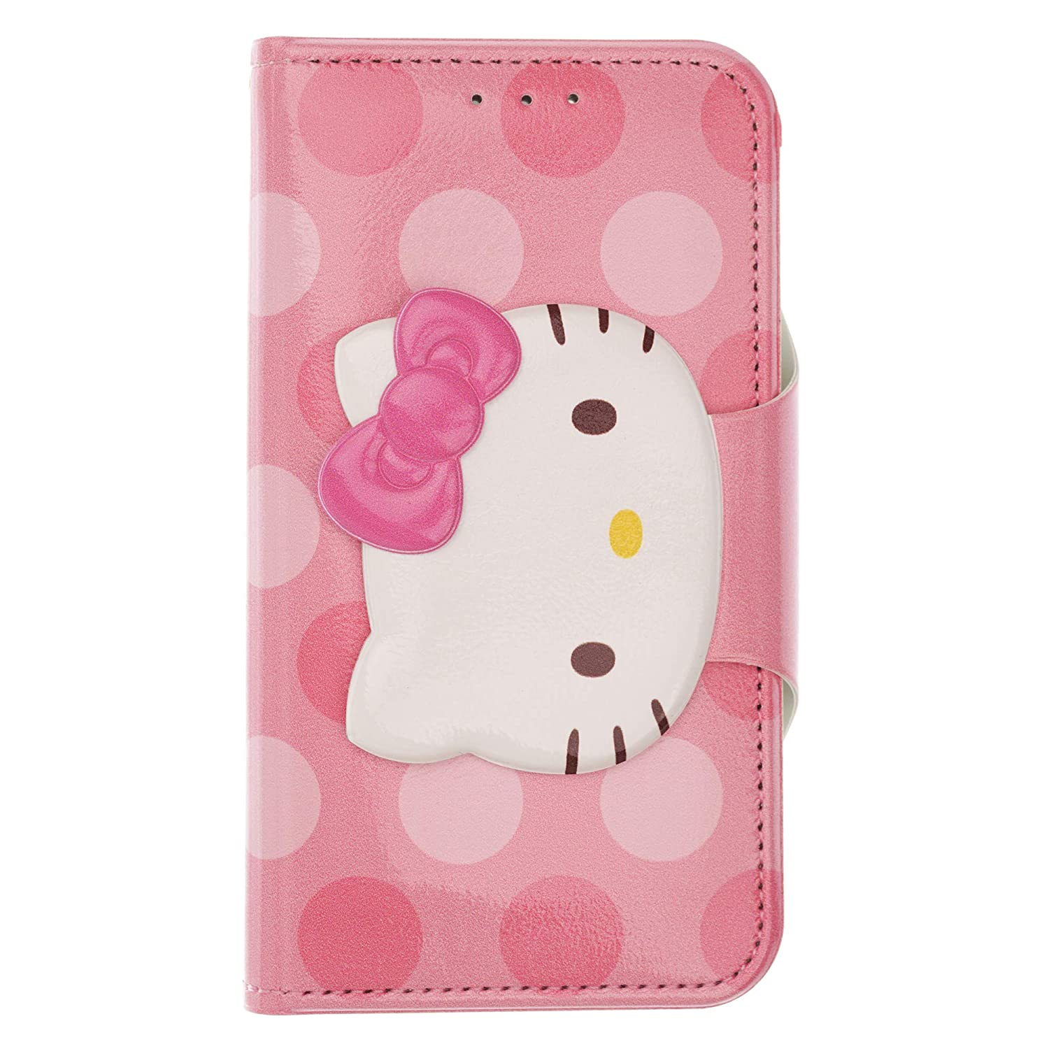 super popular b8c67 2825f iPhone Xs Max Case Hello Kitty Cute Diary Wallet Flip Mirror Cover for [  Apple iPhone Xs Max (6.5inch) ] Case - Face Button Hello Kitty Hot Pink