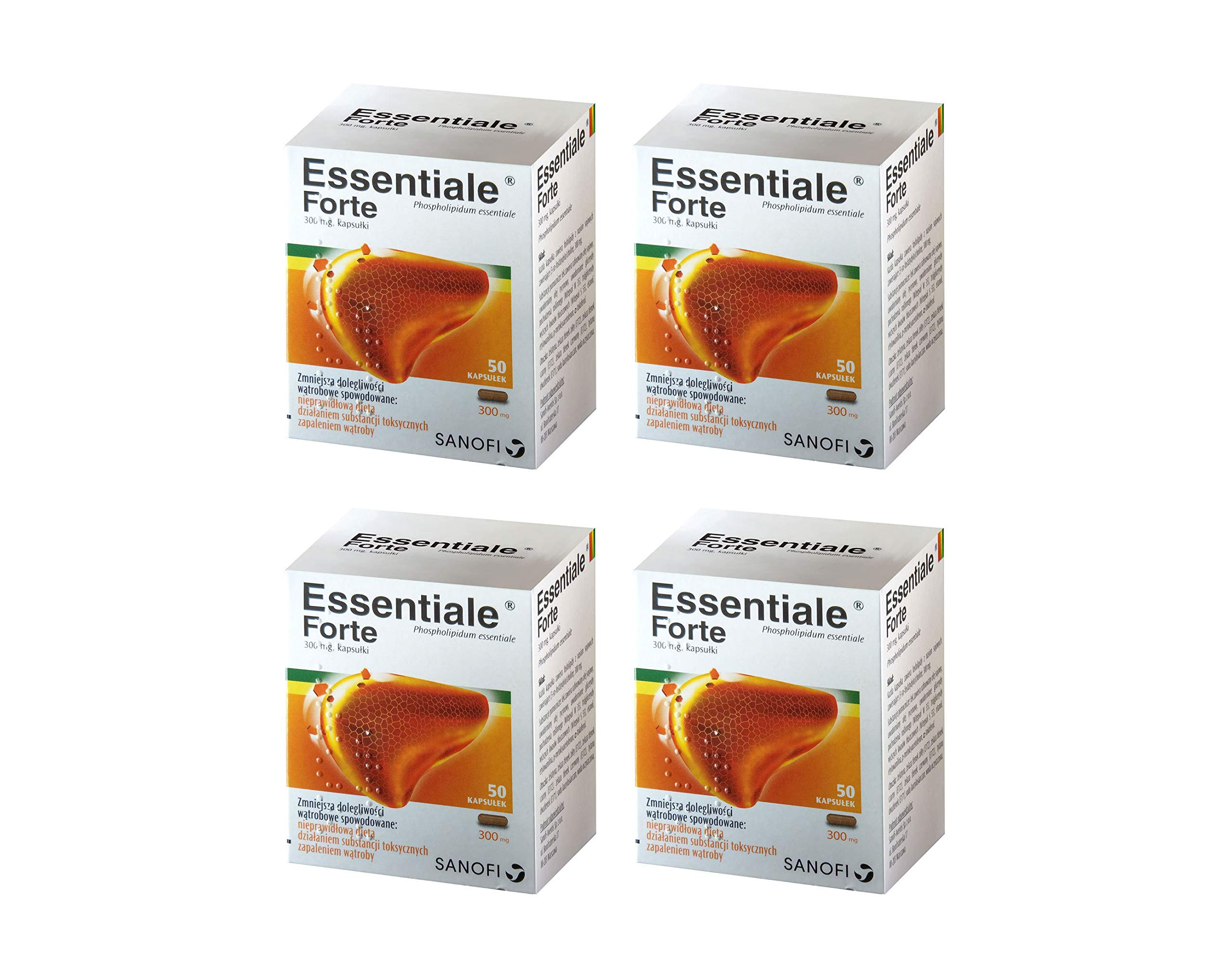 ESSENTIALE FORTE 200 capsules Liver Detox Cleanse Support Regeneration Treatment - 100% Natural and Side-Effect Free supplement - contains Soy Essential Phospholipids Non-GMO by SANOFI