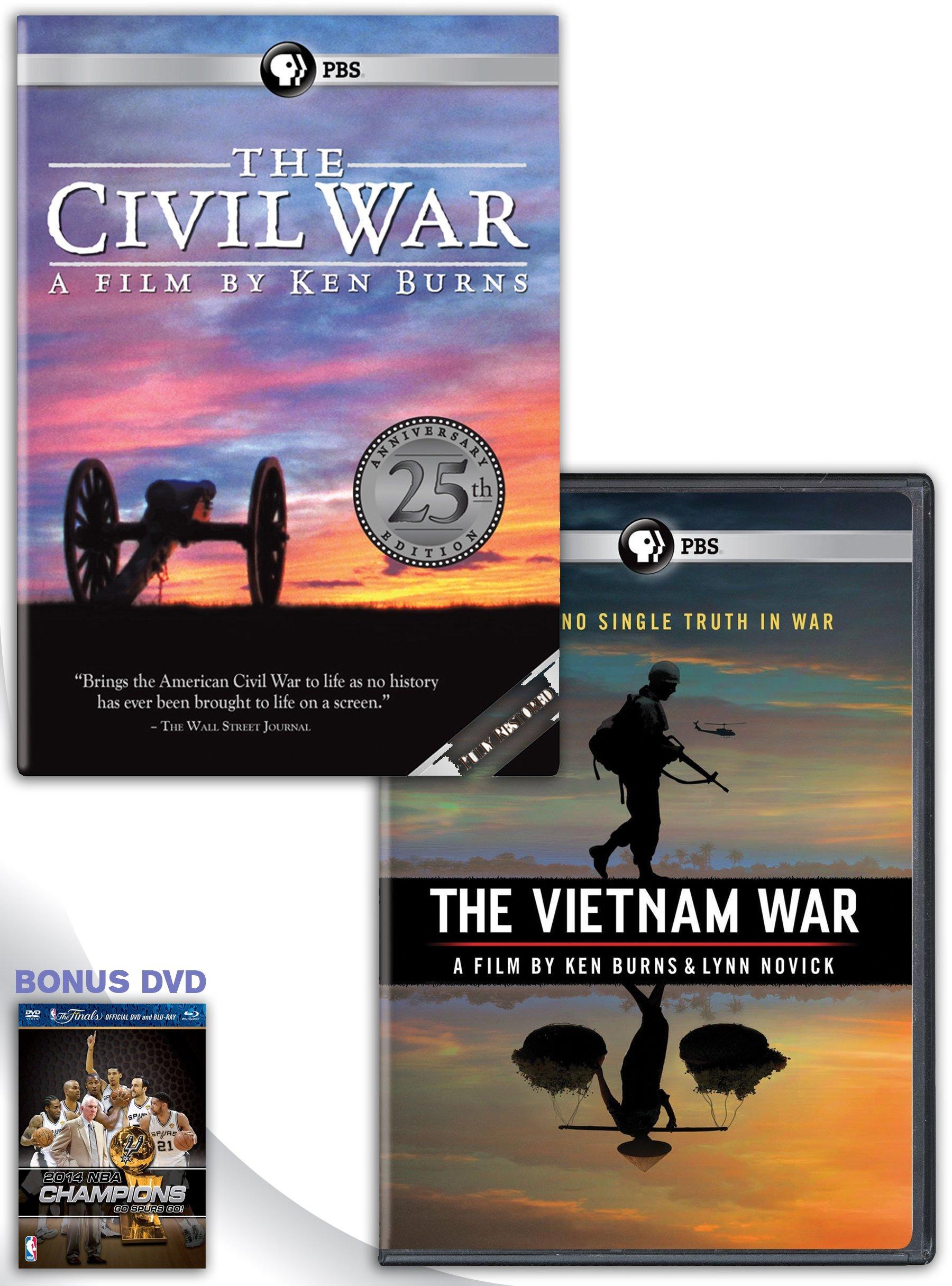 The Civil War Restored for 2015, 25th Anniversary Edition + The Vietnam War: A Film by Ken Burns and Lynn Novick DVD Box Set with Bonus DVD by P B S