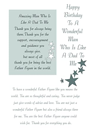 Like A Dad Birthday Card With Removable Laminate Amazon Co Uk