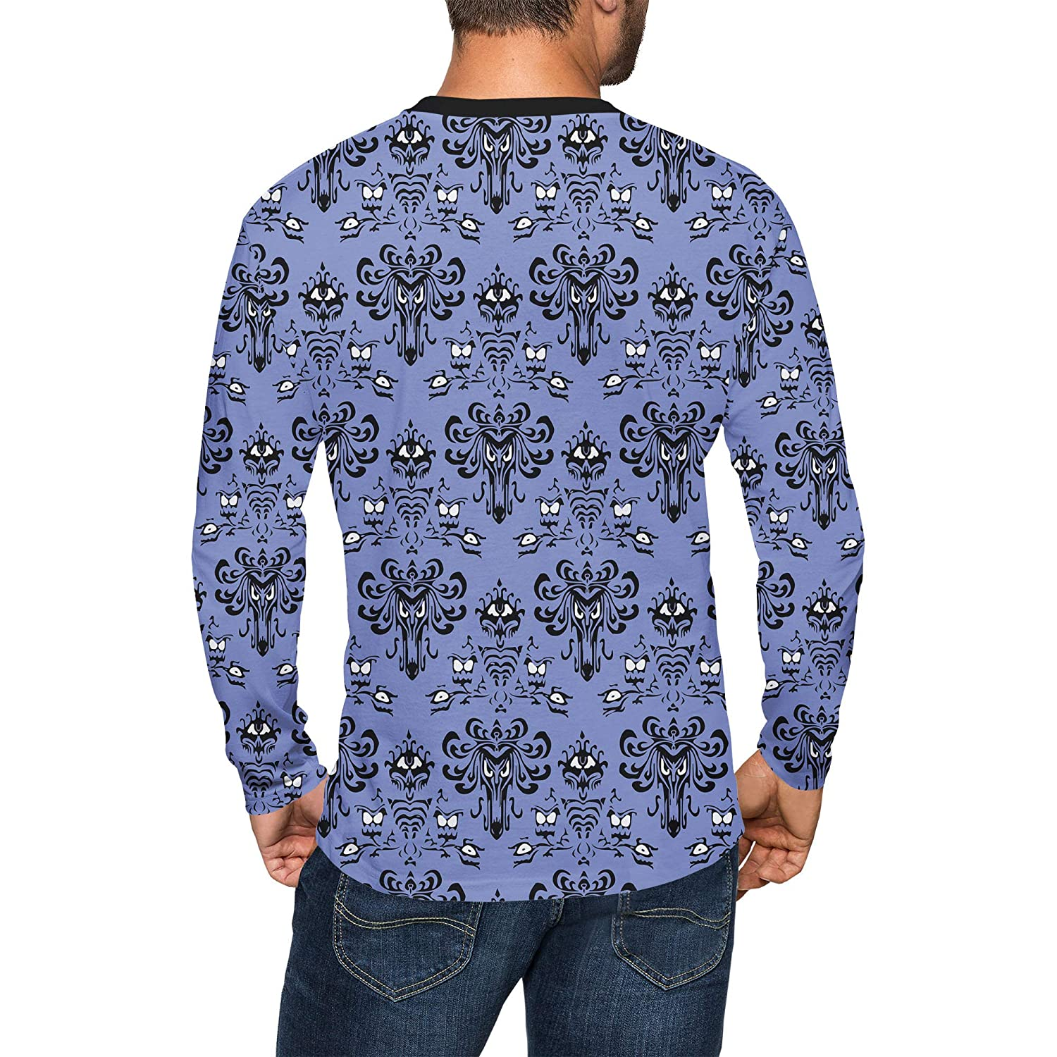 Queen of Cases Haunted Mansion Wallpaper Mens Longsleeve Tee